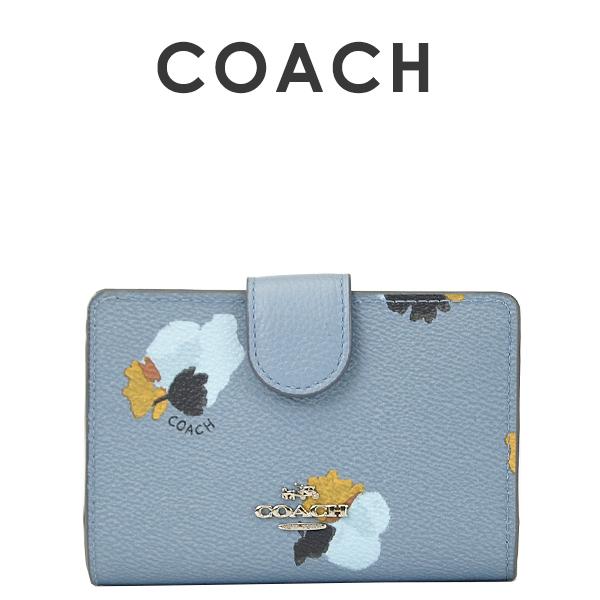 コーチ COACH レディース 財布 二つ折り財布 F53841 SVEB6(コーンフラワーマルチ)【FKS】