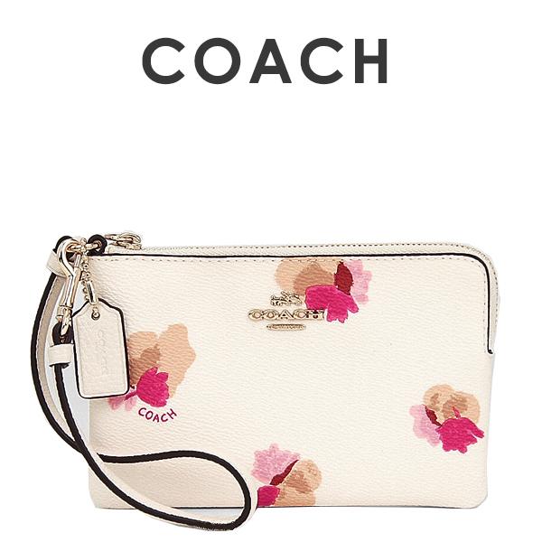 コーチ COACH レディース 小物 ポーチ リストレット 65307 LIF2N(チョーク×フィールドフローラル 花柄)