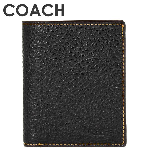 コーチ COACH メンズ 財布 二つ折り財布 F11989 BLK(ブラック)