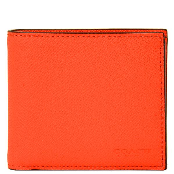 コーチ COACH メンズ 二つ折り財布 75096 LBW(ヴィンテージオレンジ)