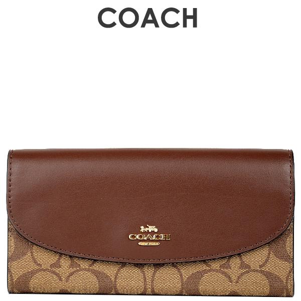 コーチ COACH レディース 財布 長財布 F54022 IME74(カーキ×サドル2)