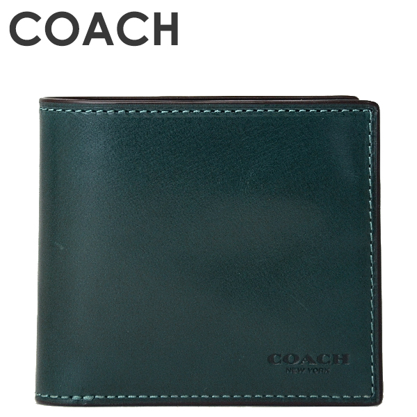 コーチ COACH メンズ 二つ折り財布 58397B FOR(フォレスト)