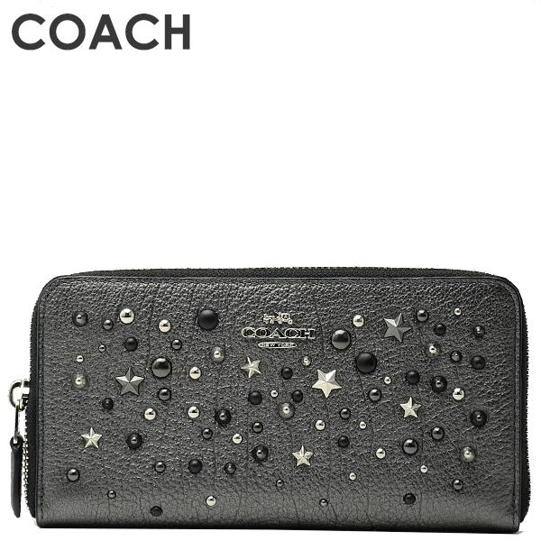 コーチ COACH レディース 財布 長財布 59489 SVM4Z(メタリックグラファイト)【FKS】
