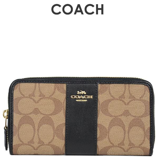 コーチ COACH レディース 財布 長財布 F54630 IMCBI(カーキ×ブラック)