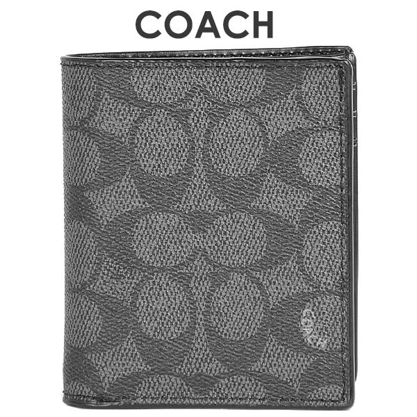 コーチ COACH メンズ 財布 二つ折り財布 59283 CHR(チャコール)