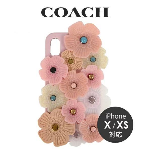 コーチ COACH レディース 小物 スマホケース iPhone X/XS 67981 LRD(ピンクマルチ)