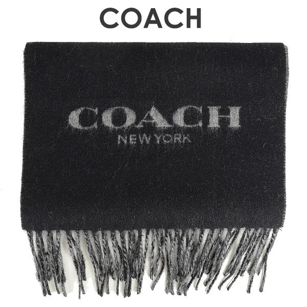 コーチ COACH メンズ 小物 マフラー F76053 BK/GY(ブラック×グレー)【FKS】