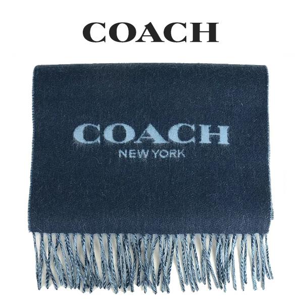 コーチ COACH メンズ 小物 マフラー F76053 P1S(ミッドナイトネイビー×ホワイトブルー)【FKS】