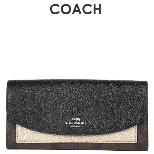 コーチ COACH レディース 財布 長財布 F22714 SVMWL(ブラウン×ブラック×プラチナ)