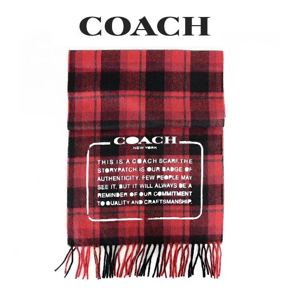 コーチ COACH メンズ 小物 マフラー 31791 E81(レッド系)