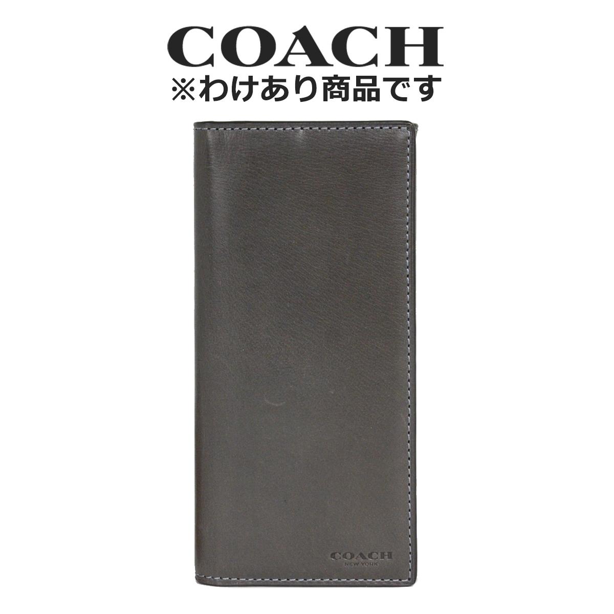 コーチ COACH メンズ 財布 二つ折り長財布 55249 GPH(グラファイト)【FKS】