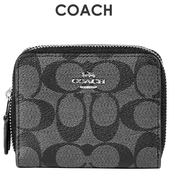 コーチ COACH レディース 財布 二つ折り財布 F78144 SVDK6(ブラックスモーク×ブラック)