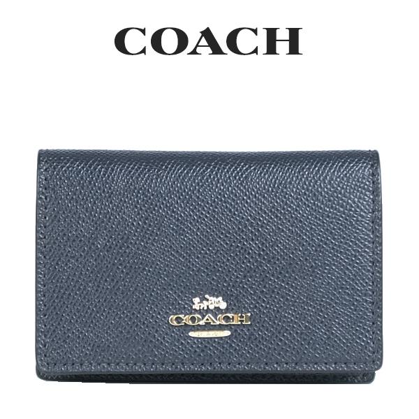コーチ COACH レディース 小物 カードケース 名刺入れ 87731 IMMID(ミッドナイト)【FKS】