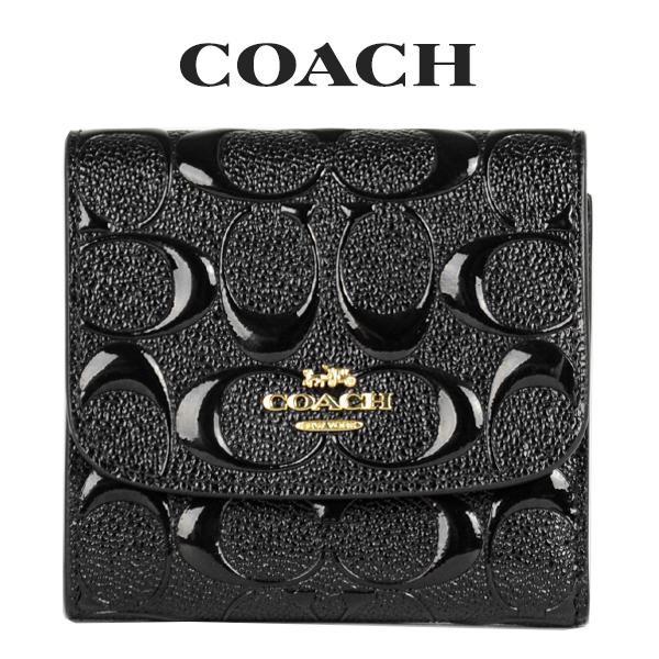 コーチ COACH レディース 財布 ミニ財布 三つ折り財布 F88907 IMBLK(ブラック)