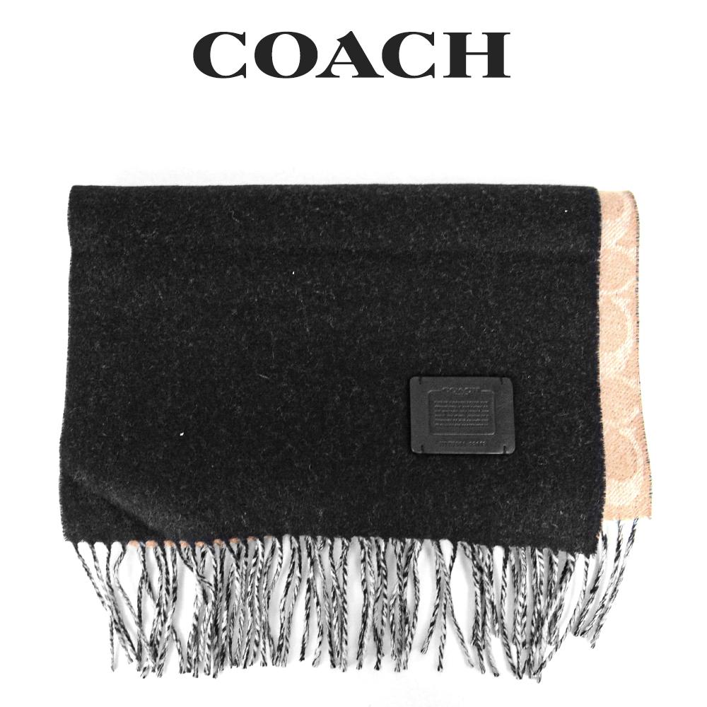 リバーシブルで使えてオシャレの幅が広がるマフラー コーチ COACH ハイクオリティ メンズ セールSALE%OFF 小物 PDM 76090 マフラー アパレル タンシグネチャー×ブラック
