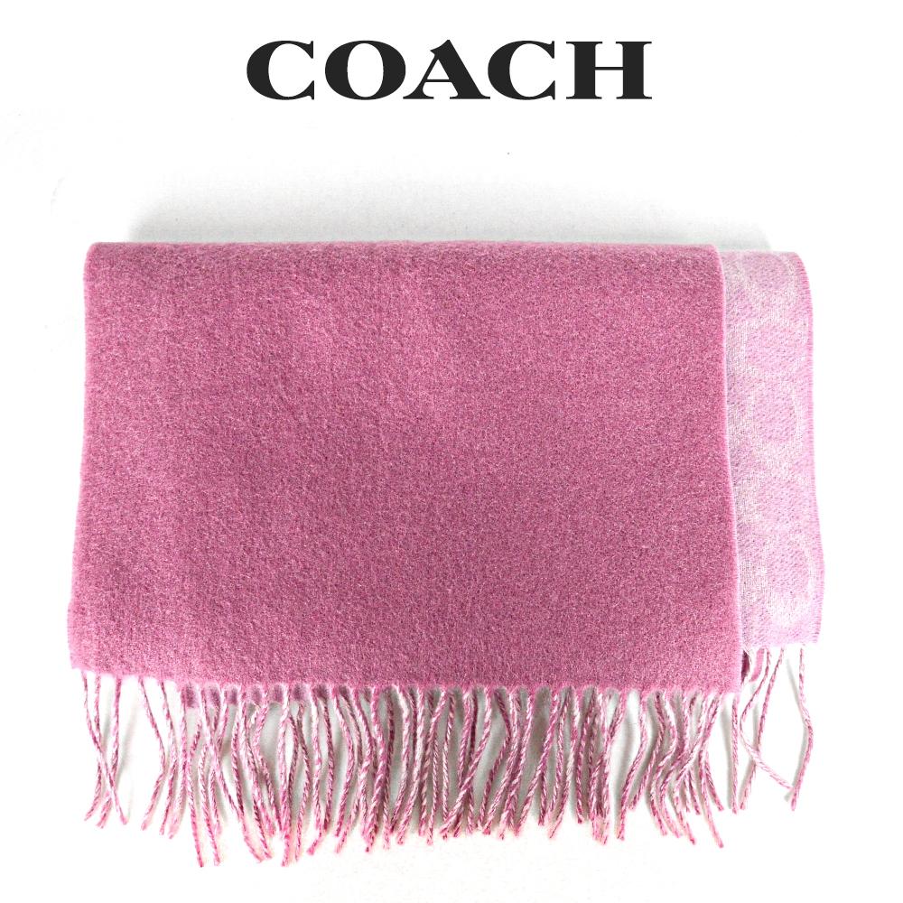 リバーシブルで使えてオシャレの幅が広がるマフラー コーチ COACH レディース 小物 アパレル OUS 76396 マフラー 人気の定番 ピンク トゥルー 新色