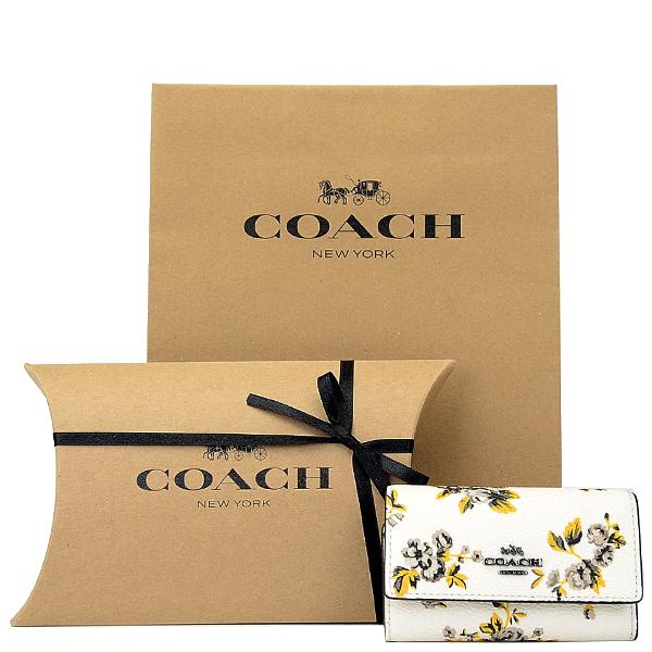 ★ 【紙袋・ラッピング代込み】 ギフトセット コーチ COACH レディース 小物 キーケース 59748 DKM86(チョーク)
