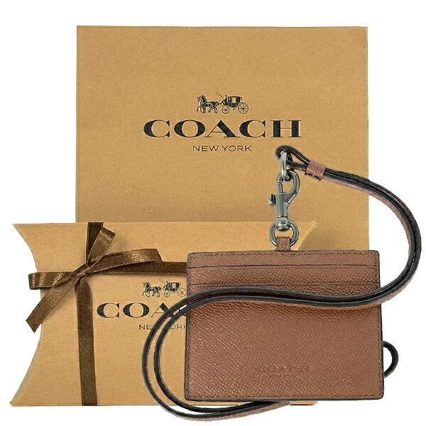 【コーチ箱ラッピング・紙袋付き】 ギフトセット コーチ COACH メンズ 小物 カードケース IDケース F79884 QBCWH(ダークサドル)