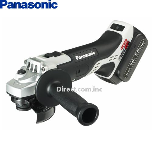 パナソニック Panasonic 18V 5.0Ah 100mm 充電ディスクグラインダー EZ46A1LJ2G-H 【フルセット】