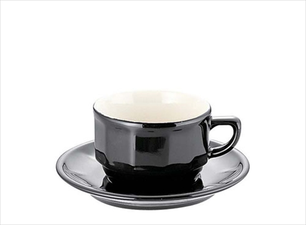 アピルコ フローラティーカップ&ソーサー(6客入) [PTFL T FL ブラック] [7-2234-1201] RAP3702