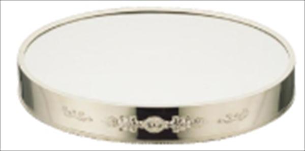 三宝産業 UK18-8小判ミラープレート 菊模様 [18インチ(ブラックアクリル)] [7-1616-0302] NML46183