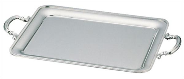 三宝産業 UK18-8菊渕角盆 [22インチ(手付)] [7-1527-0803] NKK06022