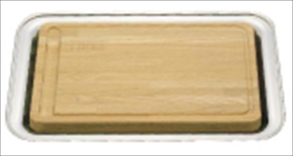 三宝産業 UK木製カッティングボード(18-8角盆付)  6-1566-1901 NKT02