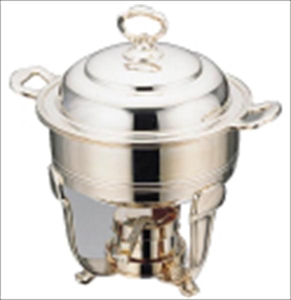 三宝産業 UK18-8バロンスープチェーフィング 10インチ 浅型(1.2l) 6-1451-0402 NSC37002