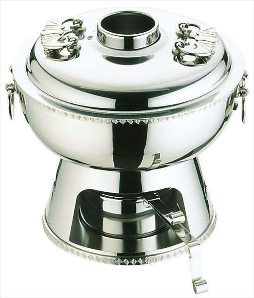 三宝産業 UK18-8雷門渕ホーコー鍋(固形ランプ付) 23 6-1923-0301 QHC11023