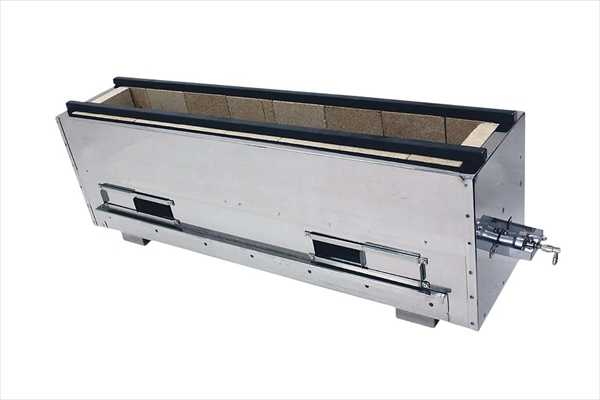 直送品■ 組立式 耐火レンガ木炭コンロ バーナー付 [NST-6038B  LPガス] [7-0721-0209] DKV7709