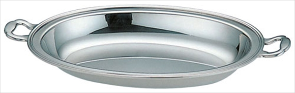三宝産業 UK18-8バロン小判チェーフィング用 フードパン深型 151/2インチ 6-1446-1001 NTEC515