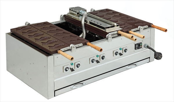 猪狩製作所 電気式両面鯛焼器(回転式アルミ板) EGDO-2(12ヶ取) 6-0884-0401 GTI3101