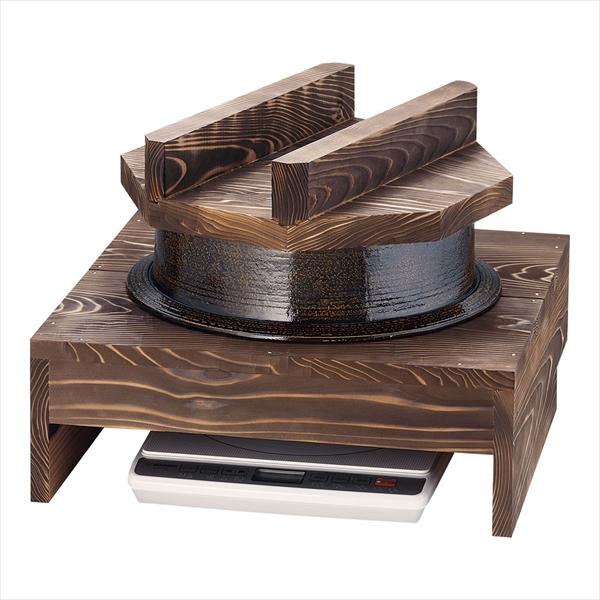 遠藤商事 電磁用アルミ製1升釜・ハカマセット (焼杉木蓋付) 6-1501-2001 DDK0101