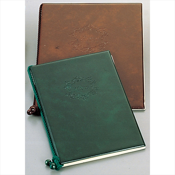 キョウリツサインテック メニューブック カスタム 小 PMNX3036A オリジナル ブラウン 7-1947-0406 期間限定特価品