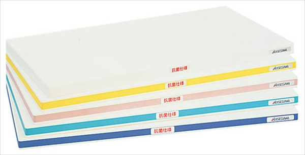 ハセガワ 抗菌ポリエチレン・かるがるまな板標準 750×350×H25 Y 6-0337-0342 AMN411072