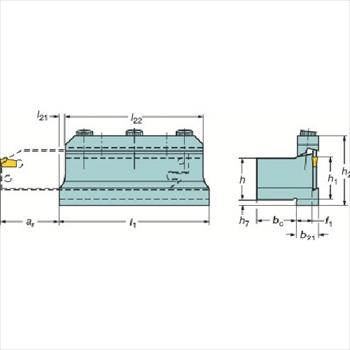 サンドビック(株)コロマントカンパニー サンドビック T-Max Q-カット ツールブロック [ 151.2202021M ]