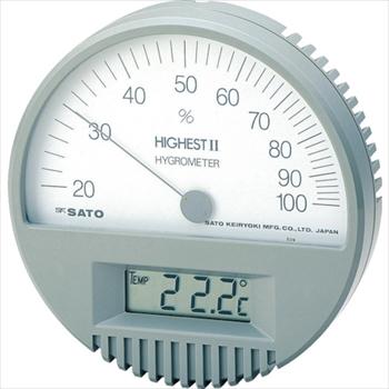 (株)佐藤計量器製作所 佐藤 湿度計 ハイエスト2型湿度計(温度計付) [ 754200 ]