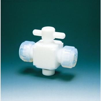 (株)フロンケミカル フロンケミカル フッ素樹脂(PTFE)二方バルブ接続6mm [ NR0028001 ]