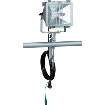(株)ハタヤリミテッド ハタヤ 防雨型ハロゲンライト 300W 100V接地付電線5m バイス付 [ PH305KN ]