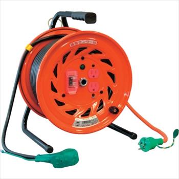 日動工業(株) 日動 電工ドラム びっくリール 100V アース過負荷漏電しゃ断器付 30m [ RNDEK30S ]