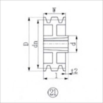 エバオン(株) EVN ブッシングプーリー SPA 315mm 溝数3 [ SPA3153 ]