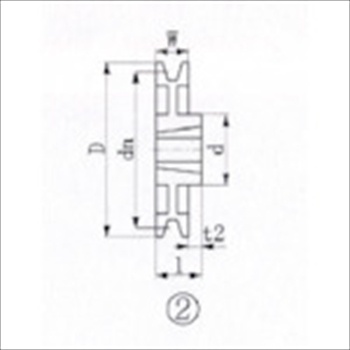 エバオン(株) EVN ブッシングプーリー SPB 300mm 溝数1 [ SPB3001 ]