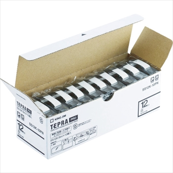 (株)キングジム キングジム 「テプラ」PROテープエコパック(10個入り)白 [ SS24K10PN ]