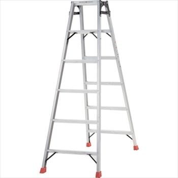 トラスコ中山(株) TRUSCO はしご兼用脚立 アルミ合金製脚カバー付 高さ1.69m[ TPRK180 ]