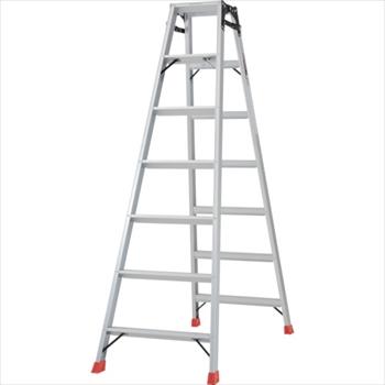 トラスコ中山(株) TRUSCO はしご兼用脚立 アルミ合金製脚カバー付 高さ1.98m[ TPRK210 ]