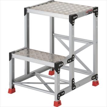 トラスコ中山(株) TRUSCO 作業用踏台 アルミ製・縞板タイプ 天板寸法500X400XH700[ TSFC257 ]