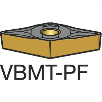 サンドビック(株)コロマントカンパニー サンドビック コロターン107 旋削用ポジ・チップ 1515[ VBMT160402PF ]【 10個セット 】