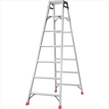 トラスコ中山(株) TRUSCO はしご兼用脚立 アルミ合金製・脚カバー付 高さ1.98m [ THK210 ]