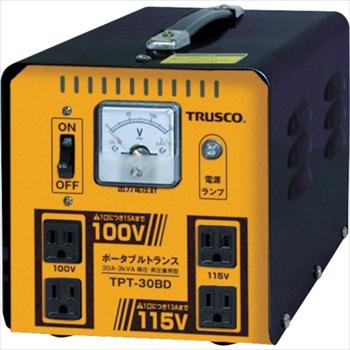 トラスコ中山(株) TRUSCO ポータブルトランス 30A 3kVA 降圧・昇圧兼用型[ TPT30BD ]