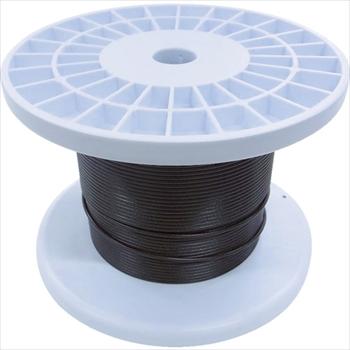 (株)ニッサチェイン ニッサチェイン 黒コーティングワイヤロープ 2.0mm×100m 1巻[ TSY20VBK ]